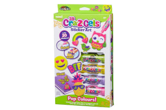 Cra-Z-Gels 3D Sticker Art Pack in Pop Colours