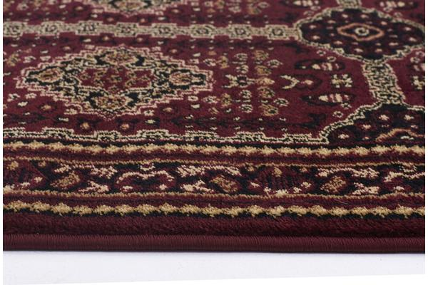 Traditional Afghan Design Rug Burgundy Red 300x80cm