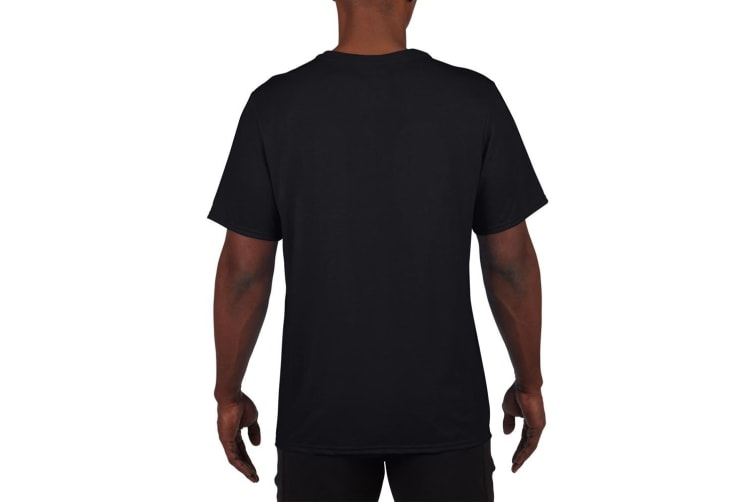 Gildan Mens Core Performance Sports Short Sleeve T-Shirt (Black) (3XL)