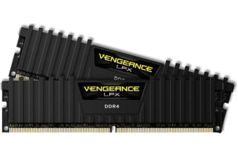 Corsair Vengeance LPX 16GB (2x8GB) DDR4 2400MHz C14 Desktop Gaming Memory Black