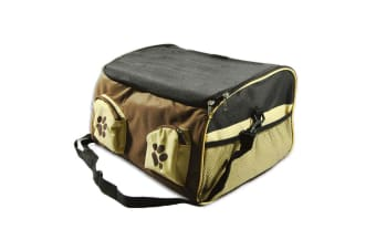Portable Pet Carrier Car Booster Seat Soft Crate Cage Travel Bag L