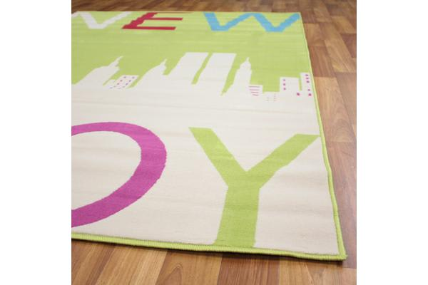 Awesome New York Pattern Rug Green 230x160cm