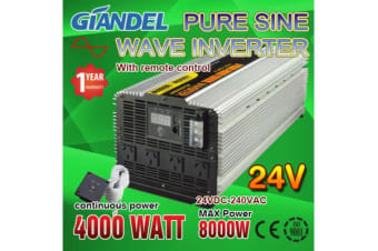 4000W Pure Sine Wave Inverter with Remote Control 24V