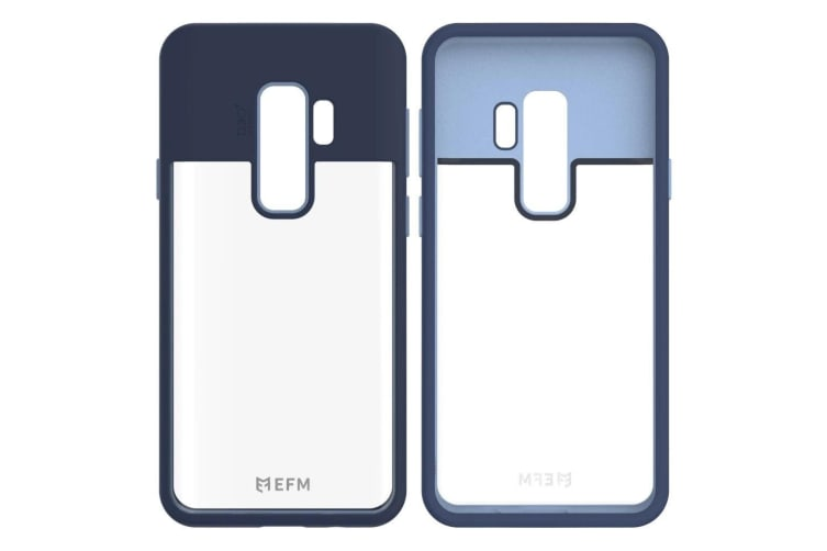EFM Aspen D3O Case Armour Cover Protect for Samsung Galaxy S9+ Plus Blue/Coral