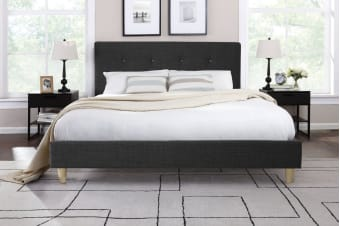 Ovela Bed Frame - Sonata Collection (Dark Grey)