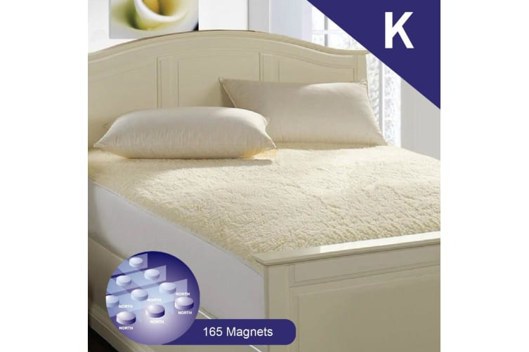 King Size Aus Made Fully Fitted Magnetic Wool Underlay