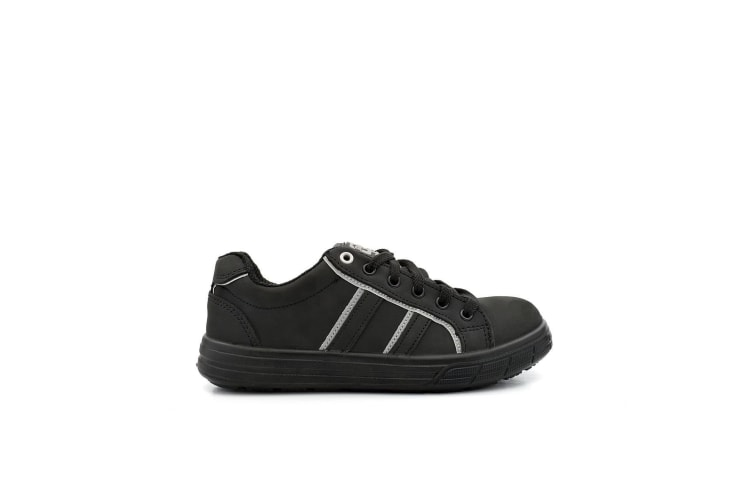 Grafters Mens Nubuck Skate Style Safety Trainer (Black) (11 UK)