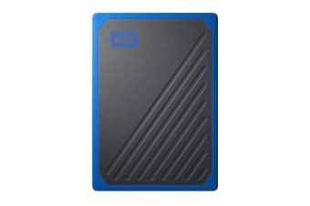 WD My Passport Go 500GB Portable SSD Hard Drive - Blue (WDBMCG5000ABT-WESN)