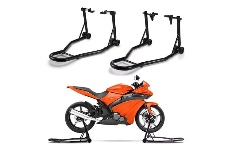 Multi-fit Front and Rear Motorcycle Stand Set