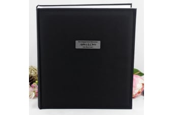 Personalised Engagement Photo Album Black 500 Photo