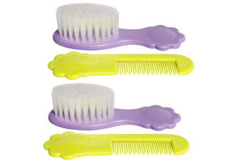 2PK Pigeon Comb & Brush Set Soft Nylon Bristles Baby/Infant/Kids Hair Grooming