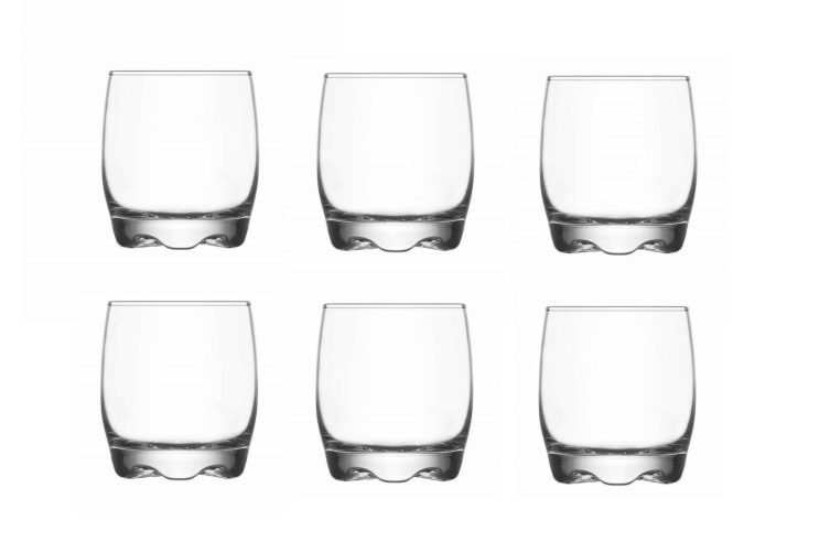 Set of 6 Clear Glass Tumbler Water Drinking Glasses Drink 290ml