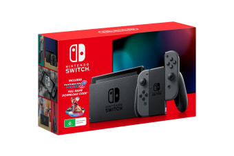 Nintendo Switch Console (2019) - Grey with Mario Kart 8 Deluxe