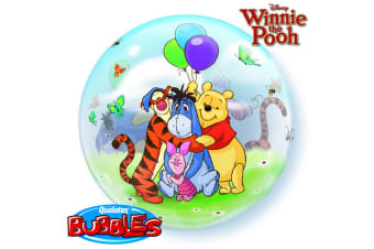 Qualatex 22 Inch Winnie The Pooh Single Bubble Balloon (Multicoloured) (One Size)
