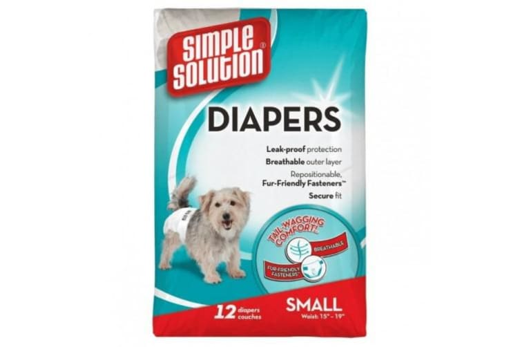 Simple Solution Disposable Dog Diapers (Pack Of 12) (May Vary) (Large Breeds)