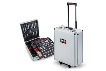 NEW Bullet 416 Piece Tool Kit Trolley Case Home DIY Tool Carry Roller Set