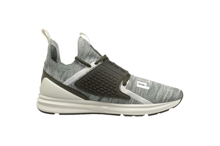 PUMA Men's IGNITE Limitless 2 evoKNIT Laur Shoe (White/Green, Size 8.5)