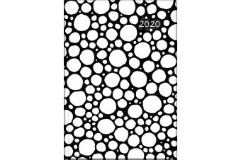 Black & White - 2020 Diary Planner A5 Padded Cover by The Gifted Stationery