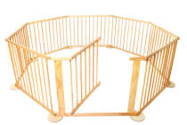 Baby Natural Wooden Playpen (8 Sided)