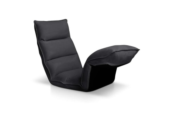 4 Adjustable Section Floor Lounge Chair (Charcoal)