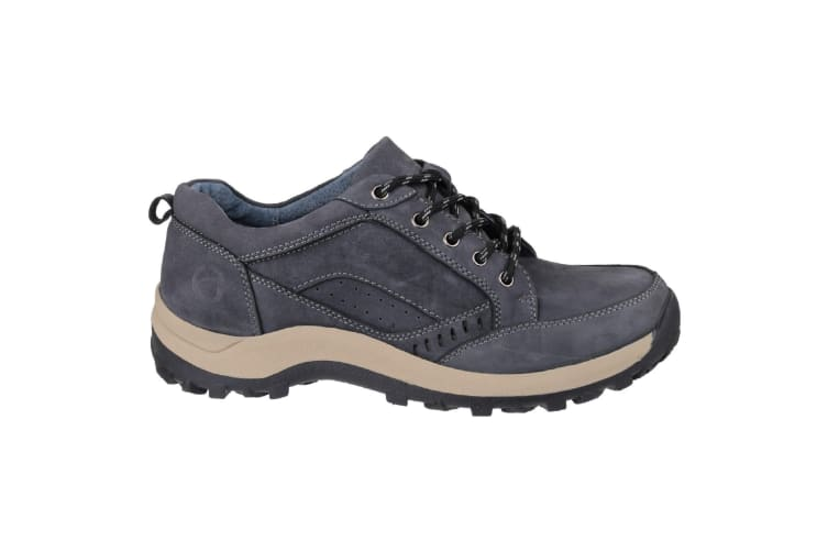 Cotswold Mens Nailsworth Lace Up Perforated Shoes (Navy) (11 UK)