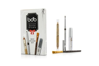 Billion Dollar Brows Best Sellers Kit: 1x Universal Brow Pencil 0.27g/0.009oz  1x Brow Duo Pencil 2.98g/0.1oz  1x Smudge Brush  1x Brow Gel 3ml/0.1oz 4pcs