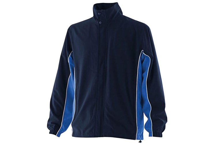 Finden & Hales Kids Unisex Full Zip Contrast Sports Track Top / Tracksuit Top (Navy/Royal/White) (7-8)