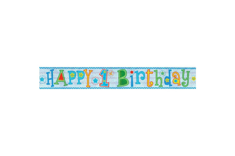 Amscan Holographic Foil Banner (Multicoloured) (Happy 4th Birthday)