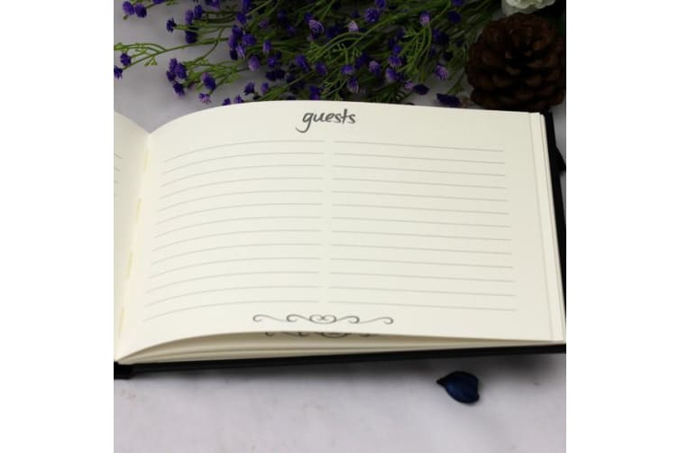 Personalised Naming Day Guest Book Black & Gold