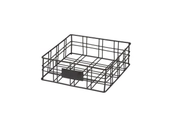 Academy Orwell Square Basket/Napkin Holder Black 20x20x7cm