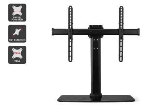 "Kogan Swivel Tabletop Stand with Glass Base for 32"" - 70"" TVs"