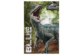 Jurassic World Fallen Kingdom Blue Poster (Multi-colour) (One Size)