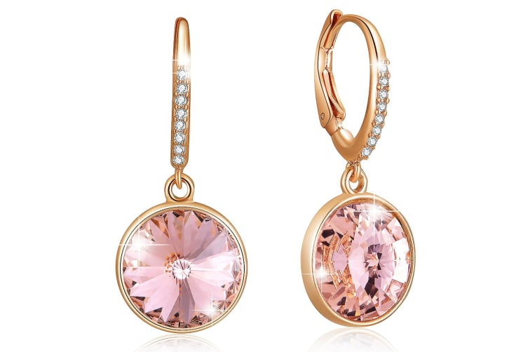 Precious Drop Earrings Vintage Rose Embellished with Swarovski crystals