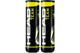 Head Team 8pk Can Tennis Ball Regular Game Size Toy/Practice/Sport/Training