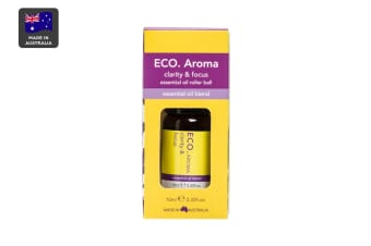 ECO. Clarity & Focus Essential Oil Roller Ball with Orange, Lavender & Ylang Ylang (10mL)