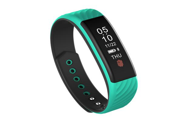 Bluetooth V4.0 Fitness Tracker Watch Rechargeable Heart Rate Monitor Ip67 Green