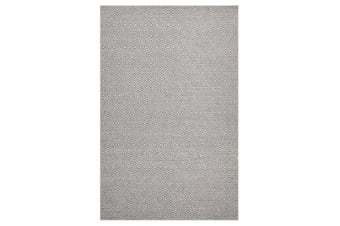 Shiva Stunning Dark Grey Diamond Wool Rug 225x155cm