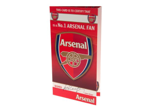 Arsenal FC No 1 Fan Birthday Card (Red) (One Size)