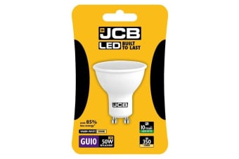 JCB LED GU10 5w Bulb Cap Blister Packed 350lm 3000k (White) (One Size)