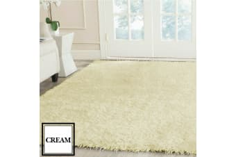 Designer Soft Shag Shaggy Floor Confetti Rug Carpet Home Decor 200x230cm Cream Cream