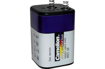 Camelion 6V Lantern Battery with Spring Terminals Super Heavy Duty  Blue Series
