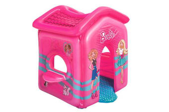 Bestway Barbie Malibu Playhouse Inflatable Toy Indoor Toddler Pink play House