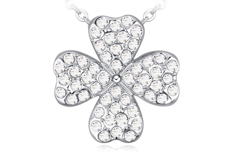 Gorgeous Lotus Pendant With Crystal Necklace Embellished with Swarovski crystals