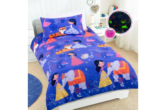 Arabian Nights Quilt Cover Set Single by Happy Kids