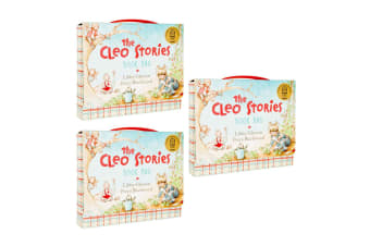 3x The Cleo Stories Kids/Child Book Bag w/ 2 Bed Time Story Hardcover Books Set