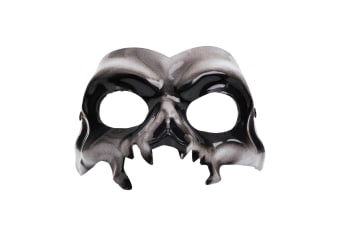 Bristol Novelty Unisex Adults Halloween Skull Eye Mask (Grey) (One Size)
