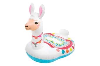 Intex 201cm Inflatable Mega Llama Ride-On Adult Water Toy for Swimming Pool 14y+