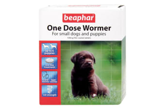 Beaphar Canac One Dose Small Dog & Puppy Wormer (6 Tablets) (May Vary)