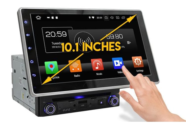 "Elinz Toyota 10.1"" In Dash Car DVD Player Double 2 DIN Android 9 WiFi GPS Head Unit"