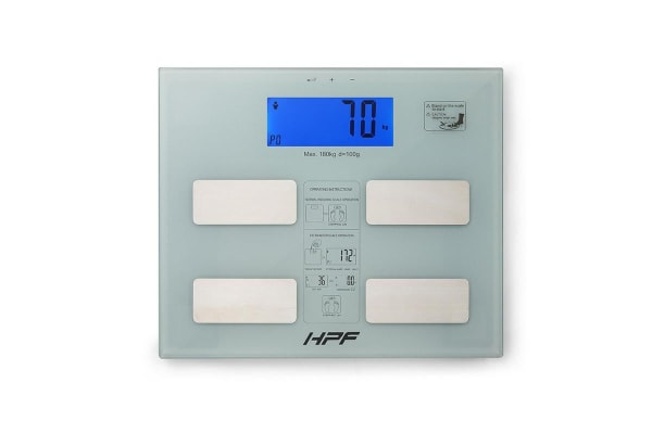 HPF White 180kg Digital Bathroom Scales